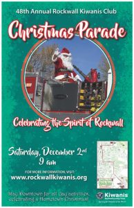 "Celebrate the ""Spirit of Rockwall"" at the 48th Annual Kiwanis Christmas Parade"